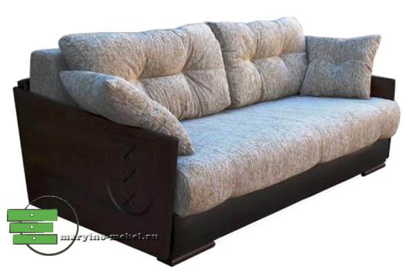 амстердам диван еврокнижка с деревянными подлокотниками купить в